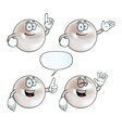 Smiling pearl set vector image vector image