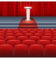 Stage with a red curtain vector image vector image