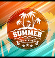summer sale banner typographic retro style summer vector image vector image