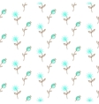 Thin blue flower pattern vector image vector image
