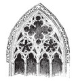 tracery actual window openings vintage engraving vector image vector image