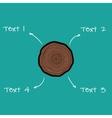 tree rings scheme vector image