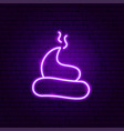turd poop neon sign vector image