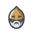 viking warrior head cartoon vector image vector image