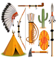 Indian Icons vector image