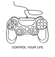 Gamepad sketch icon Hand drawn vector image