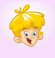 cartoon small blond boy vector image