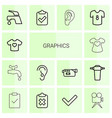14 graphics icons vector image vector image