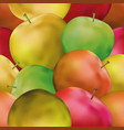 background with apples vector image