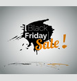 black friday clearance sale vector image vector image