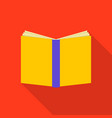 bookcover icon flat style vector image vector image
