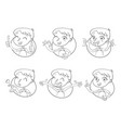 boy in different situations emotions on face vector image