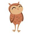 cartoon owl cute owl vector image