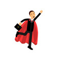 cheerful male character with briefcase and vector image vector image