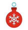 Christmas ball icon flat style vector image vector image