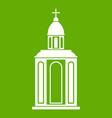 church icon green vector image vector image