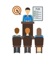 Conference people vector image vector image