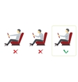Correct spine posture for driver vector image vector image