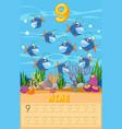 counting fish math worksheet vector image vector image