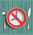 dieting and weight loss vector image vector image