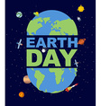 Earth Day emblem Logo for Holidays of Earth vector image vector image