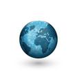 earth globe logo mockup design creative 3d shape vector image vector image