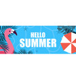 facebook summer cover template vector image vector image