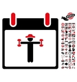Fitness Calendar Day Flat Icon With Bonus vector image vector image