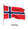 flag kingdom norway vector image vector image