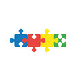 flat design concept of four part jigsaw puzzle vector image vector image