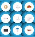 flat icon sanitary set of tube water filter vector image vector image