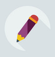 flat modern design with shadow icon pen vector image vector image