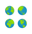 flat style globe design vector image