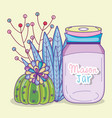 garden mason jar cartoon vector image vector image