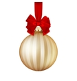 Golden Christmas ball EPS 10 vector image vector image