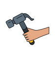 hammer tool icon image vector image vector image