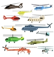 Helicopters set vector image