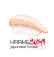hirame sushi vector image vector image