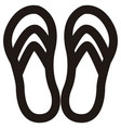 isolated sandals outline vector image