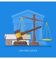 Law and justice concept in vector image