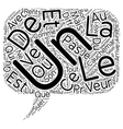 Le reve text background wordcloud concept vector image vector image