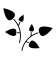leaf branches icon black vector image
