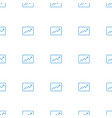 line graph icon pattern seamless white background vector image vector image