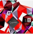 Low poly polygonal triangle abstract background vector image vector image