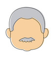 man face male person character profile people vector image vector image
