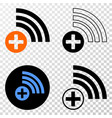 medical source eps icon with contour vector image vector image
