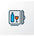 minibar icon colored line symbol premium quality vector image vector image