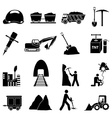 Mining Construction icons set vector image vector image