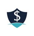 modern icon shield letter dollar vector image