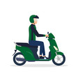motorcycle-rider vector image